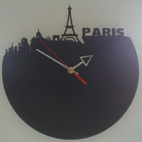 Paris skyline Clock
