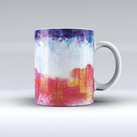The Red White & Blue Paint Splotches ink-Fuzed Ceramic Coffee Mug
