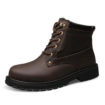 Genuine Leather Work & Safety Boots