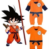 autumn Dragon Ball Goku baby romper 100% cotton baby  boys Romper long sleeve baby clothes newborn baby costume jumpsuit romper