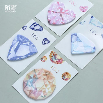 Yes I Do Gemstones Mini Memo Pad N Times Sticky Notes Escolar Papelaria School Supply Bookmark Post it Label