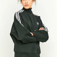 adidas Originals 3-Stripe Black Turtleneck Sweatshirt - Urban Outfitters
