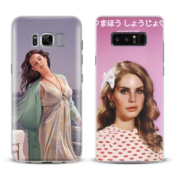 Lana Del Rey Lizzy Coque Phone Case Cover For Samsung Galaxy S4 S5 S6 S7 Edge S8 S9 Plus Note 8 2 3 4 5 A5 A7 J5 2016 J7 2017
