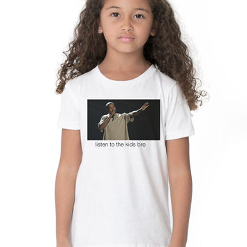 Kids Custom Tee Shirt - Kanye The Kids
