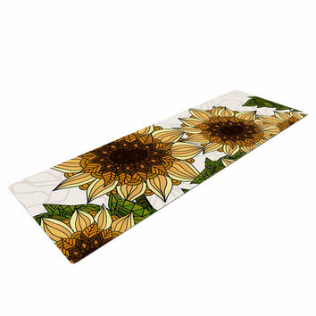 "Art Love Passion ""Sunflower Field"" Beige Yellow Yoga Mat"