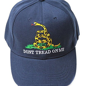 Vintage Don't Tread On Me Logo Snake Hat - Navy