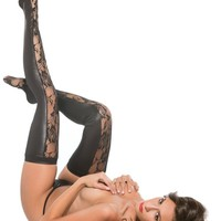 Allure AL-7-2602K Lace & Wet Look Tights