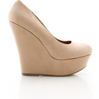 Cloud Nine Wedges - Faux Suede Wedges at Pinkice.com