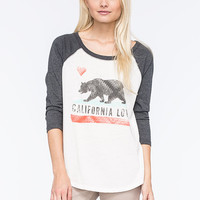 Billabong Bears Republic Womens Raglan Tee Black/White  In Sizes