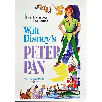 Vintage Peter Pan Movie Poster// Classic Disney Movie Poster//Movie Poster//Poster Reprint//Home Decor//Wall Decor//Vintage Art