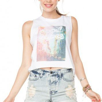Brandy ♥ Melville |  Sadie Good Vibes Baldwin Tank - Graphics