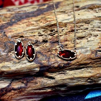 Red Jewel Necklace