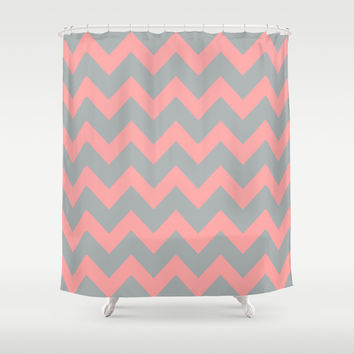 Best Shower Curtains Pink With Grey Products on Wanelo