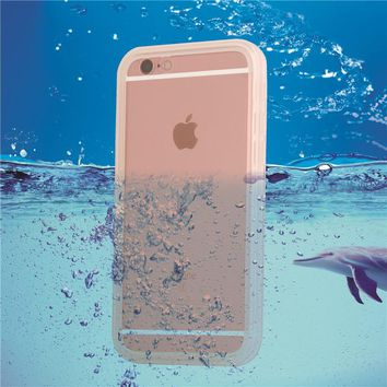 i6 Fashion Waterproof Swim Diving Case For iphone SE 5 5s 6 6 plus 6s Plus Clear Protective Front & Back TPU Cover Accessories