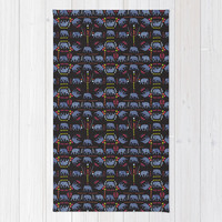 Patterned elephants Rug by Suburban Bird Designs
