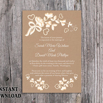 Best burlap and lace wedding invitations products on wanelo diy lace wedding invitation template editable word file download printable rustic wedding invitation burlap vintage floral solutioingenieria Image collections