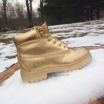 Gold Timberland Boots (Mens Sizes) from Flowersourdiesel  929a58b7cb70