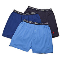Polo Ralph Lauren Classic Cotton Knit Boxer 3-Pack Underwear RY73 at BareNecessities.com