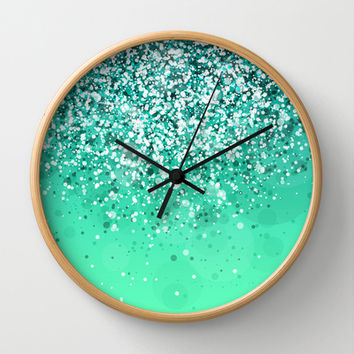 Silver II Wall Clock by Rain Carnival