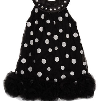 Biscotti Girls 2-6x Dotted Dress with Rosette Hem