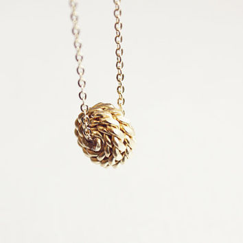 knot necklace  dainty 14kt gold plated jewelry by PetiteCo on Etsy