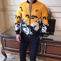 2019 Dior Spring and summer new men and women sweater  trend couple models print
