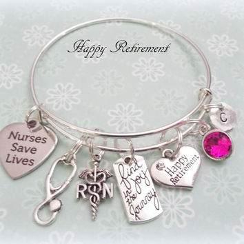 retirement gift for nurse, thank you gift  nurse, personalized jewelry gift, nurse appreciation gift, rn gift for retirement, christmas gift