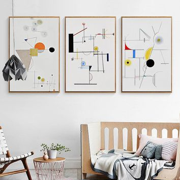 HAOCHU Modern Abstract Geometry Wassily Kandinsky Canvas Painting Art Poster Wall Pictures For Living Room Home Decor