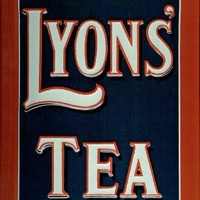 Lyons Tea Always The Best embossed steel sign