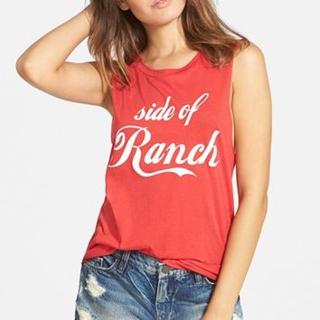 Women's Madison & Berkeley 'Side of Ranch' Shirttail Tank,