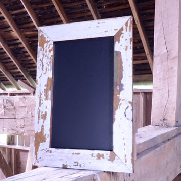 Naturally distressed barn wood siding chalkboard/blackboard