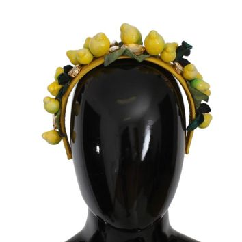 Yellow Sicily Lemon Crystal Floral Headband