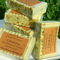 CALM Soap made with chamomile, oatmeal and essential oils