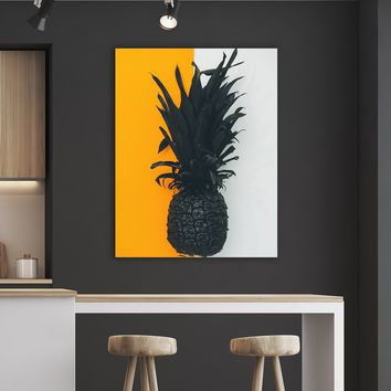 Artsy Pineapple Kitchen and Dining Room Wall Decor Canvas Set