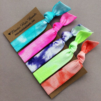 The Amelia Tie Dye Hair Tie Ponytail Holder Collection