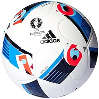 Adidas Top Replique Ballon UEFA Euro 2016 White/Bright Blue/Night...