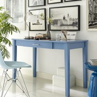 Midtown Wood Writing Desk - Blue