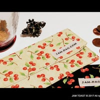 2 Fabric Cash Envelopes (Coupon Organizer) WinterBerry on Black & on Beige - Fabric Envelope, Receipt Holder, Money Envelope, Cash Envelopes