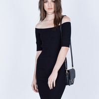 Simple Off-the-Shoulder Dress