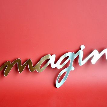 Selfadhesive Mirror Acrylic Word IMAGINE by StudioLiscious
