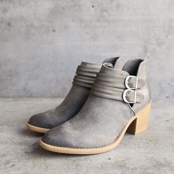 rascal western inspired booties - grey