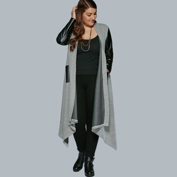 Trim Longline Asymmetrical Women Coat