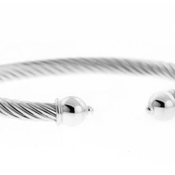 Cape Cod All Sterling Heavy Twist Cuff Bracelet ($130)