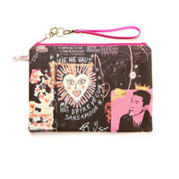 Alexandra De Haenen Canvas Printed Clutch