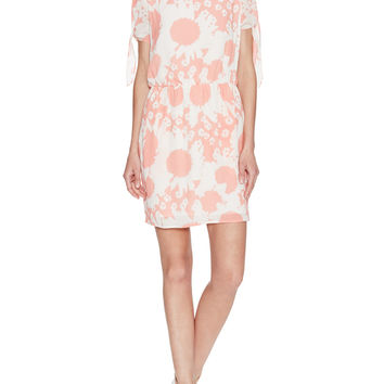 Trista Printed Dress with Knotted Sleeves