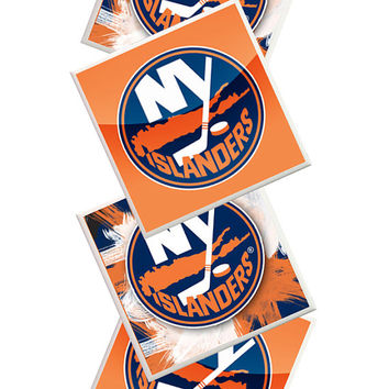 NY Islanders Coasters, New York Islanders, NY Islanders, Fathers Day, Sports Coasters, Man Cave, home decor, Sports Bar decor, hockey stuff