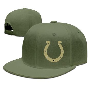 Indianapolis Colts Salute To Service Logo Funny Unisex Adult Womens Hip-hop Hats Mens Hip-hop Hats
