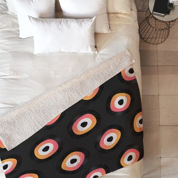 Elisabeth Fredriksson Space Sushi 1 Fleece Throw Blanket