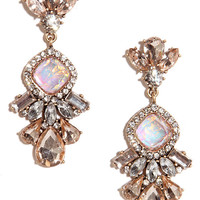 Make Your Spark Pink Rhinestone Earrings