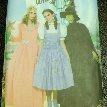 Wizard of Oz Costume Pattern Simplicity 4136 Adult Sz 6-12 Dorothy Glenda Wicked Witch